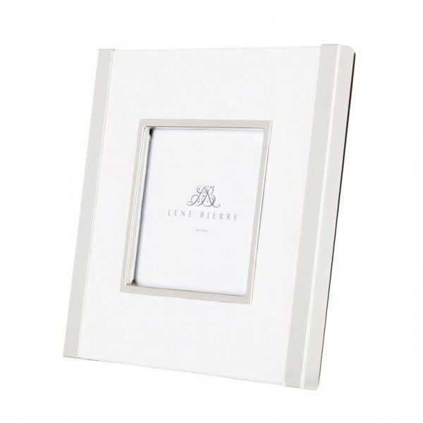 AUSTIN\' collection silver photo frame with \'white\' linen surround by ...