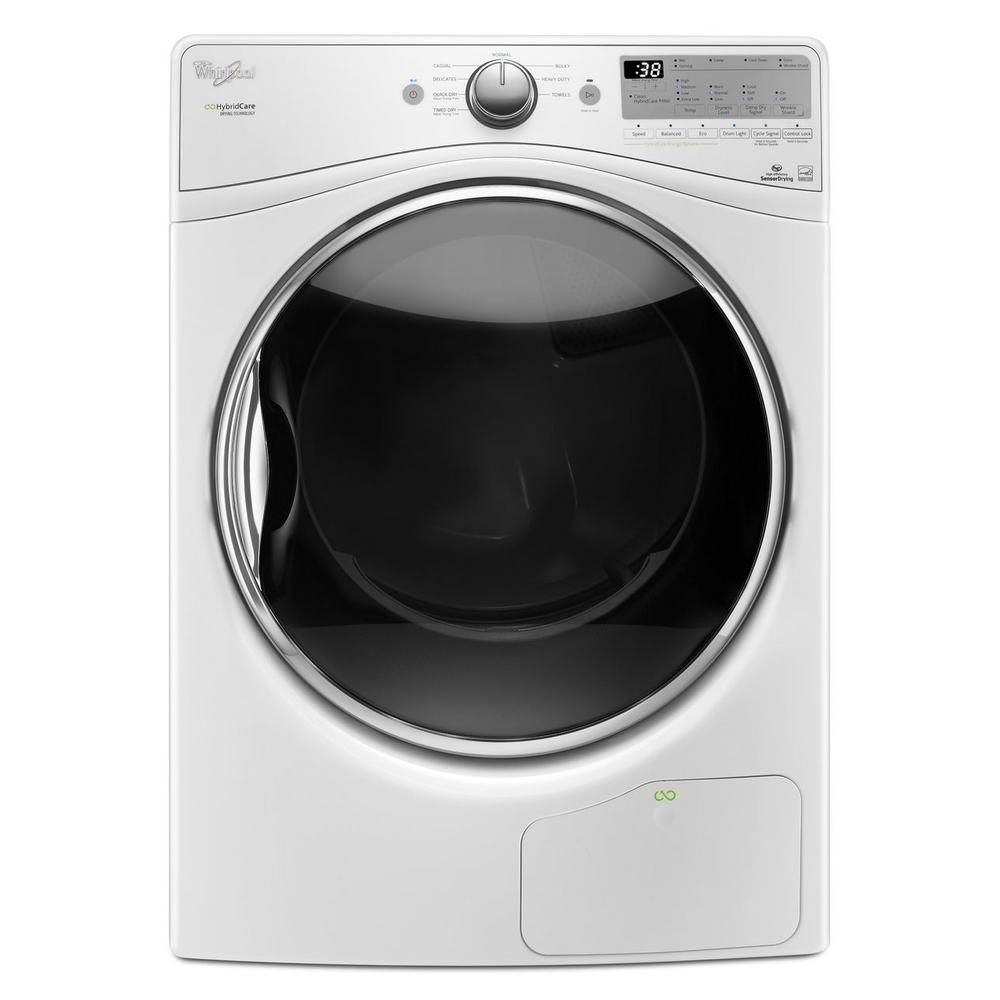 Whirlpool 7.4 cu. ft. Ventless Electric Dryer with Heat Pump Technology in White