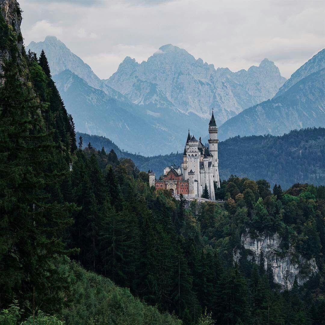Neuschwanstein Germany Castelos Medievais Viagem No Tempo Viagem