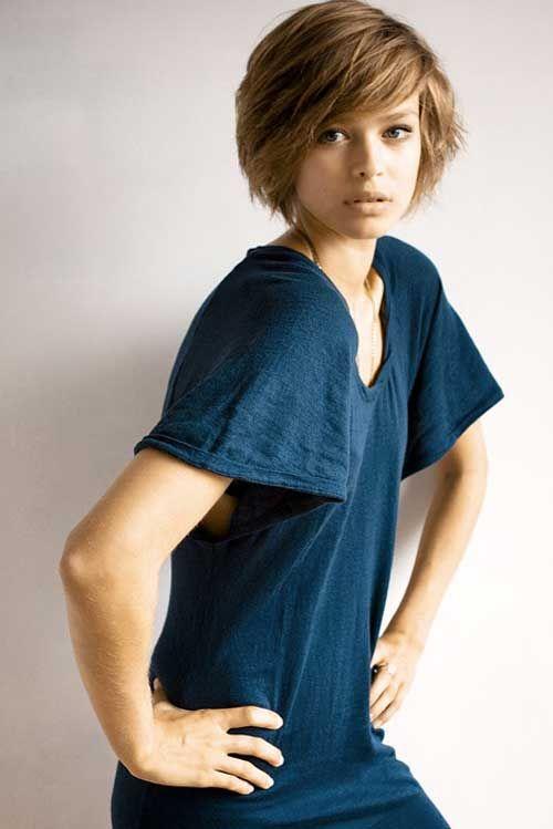 20 Cute Short Haircut Styles Thick Hair Styles Short Cropped Hair Cute Hairstyles For Short Hair