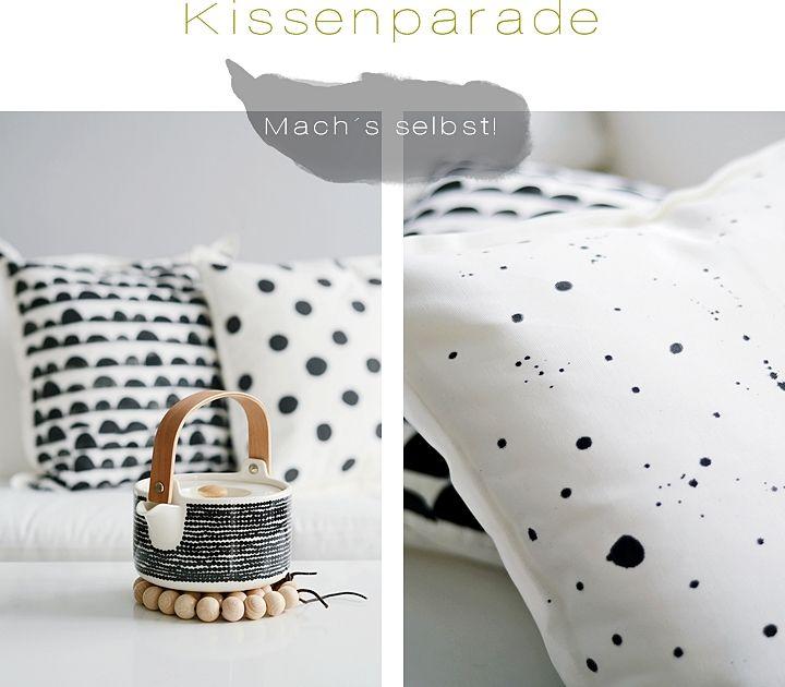 diese selbst bedruckten kissen sind echte designobjekte gerade das sprenkelkissen sieht einfach unglaublich hochwertig und stylisch aus - Kissen Selber Bedrucken