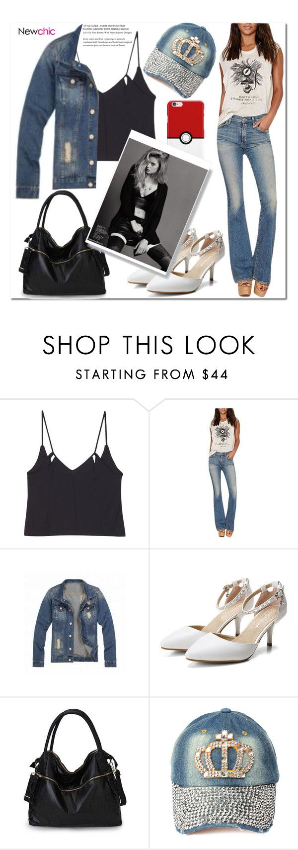 """Alice#I LOVE NEWCHIC#Newchicstyle"" by alice-666-179 ❤ liked on Polyvore featuring denimjackets and WardrobeStaples"