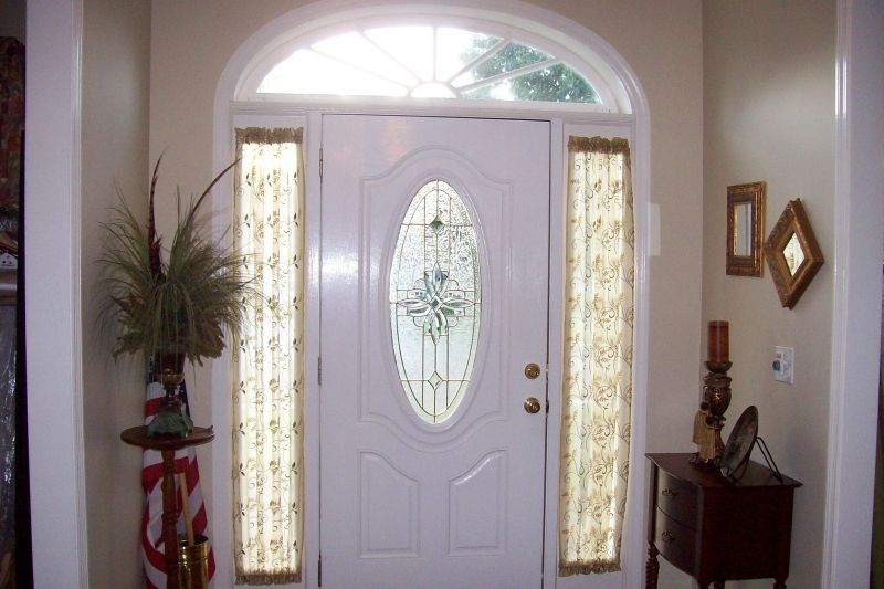 Painting Of Sidelight Window Treatments On The Main Entry