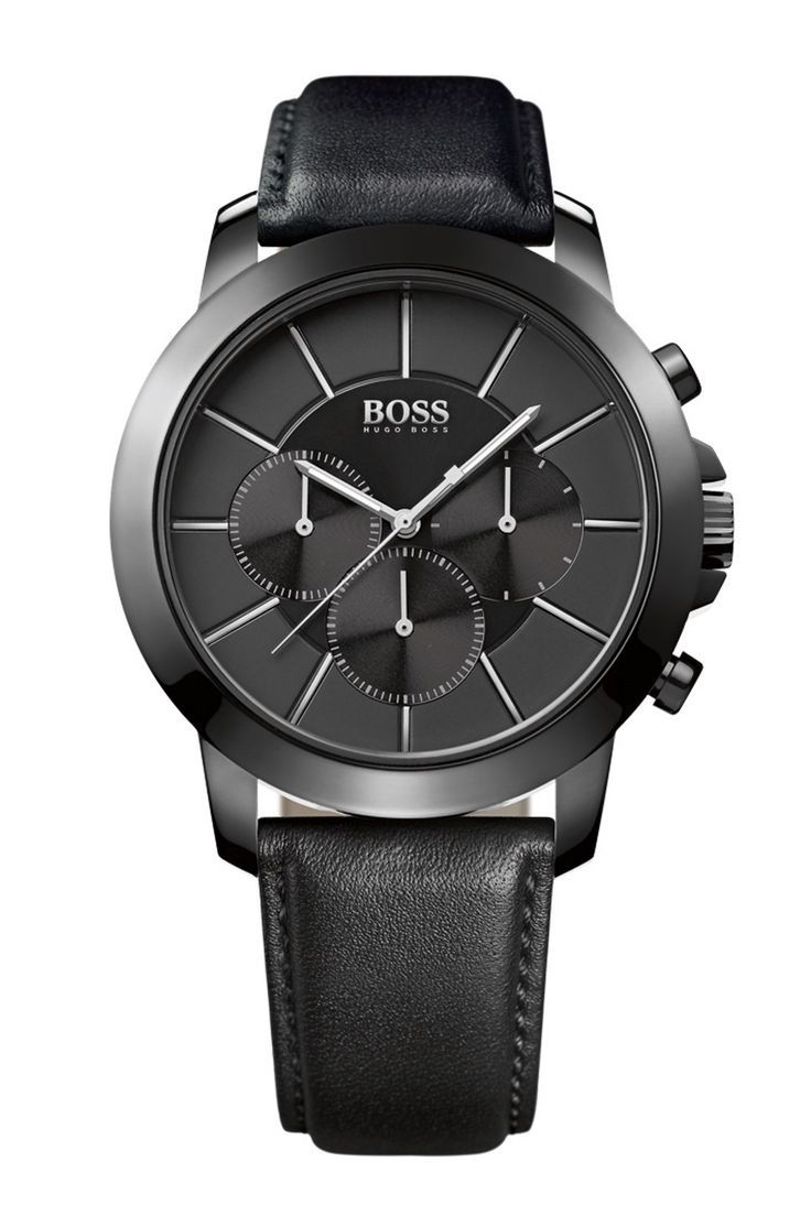 """Hugo Boss, sponsor of this year's GQ's Men Of The Year awards, presented each winner with a special version of its Deep Blue SXmodel with a custom-engraved case back.  Lucky winners. Watch of the collectionThe """"Cool Black"""" model from the Modern line has a case made from a new alloy called TR90 that is both light andwear-resistant. £275. hugoboss.com:"""