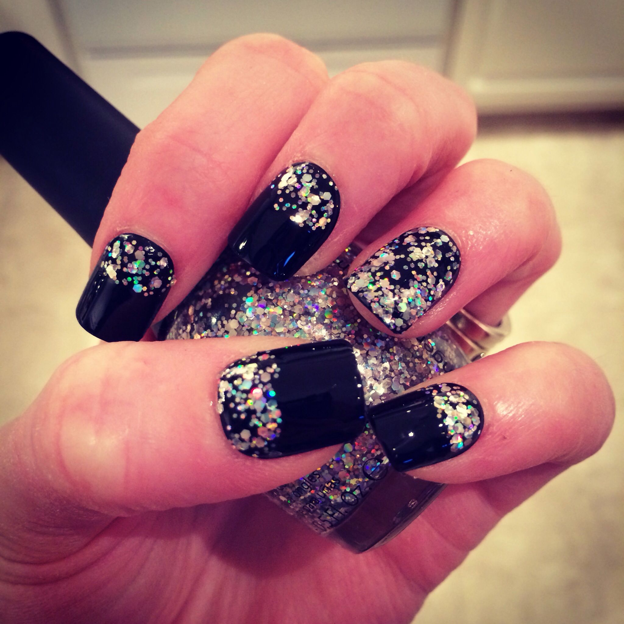 New Year\'s Eve nails! | Nail Art | Pinterest | Latest nail art ...