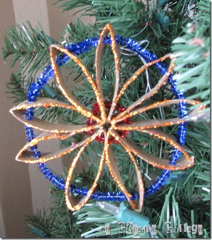 Love this simple kids tree ornament.