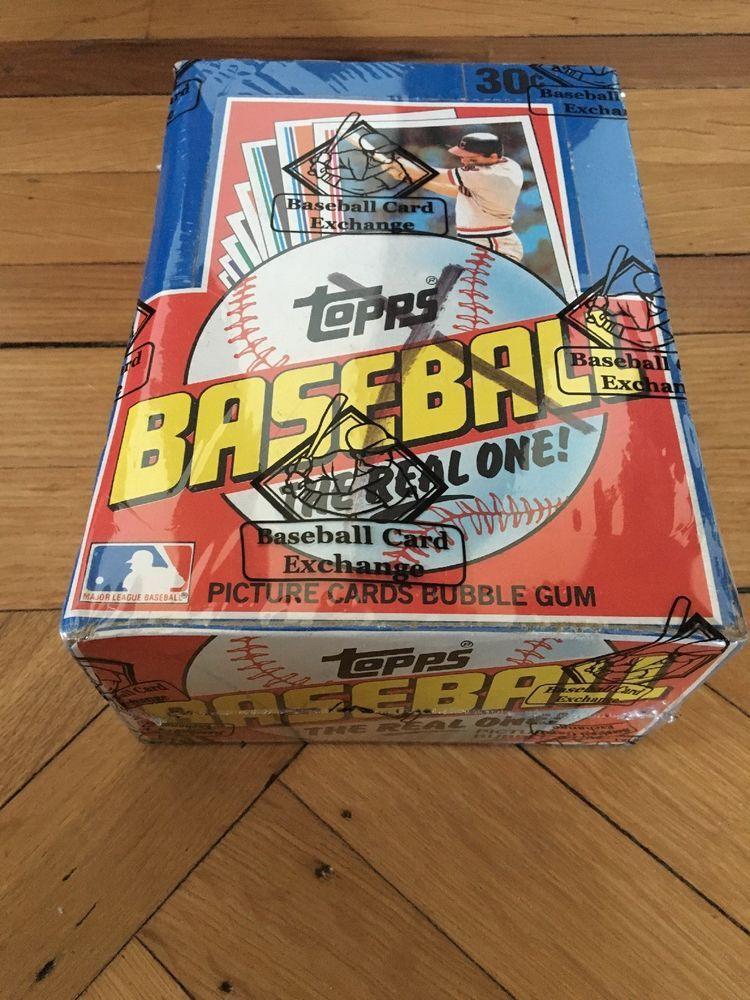 1982 topps unopened wax box 36 packs bbce sealed
