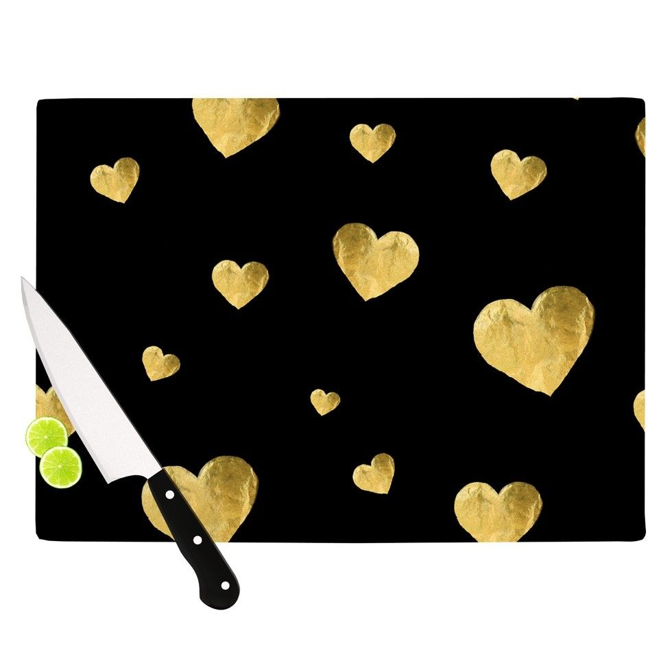 Floating Hearts Cutting Board