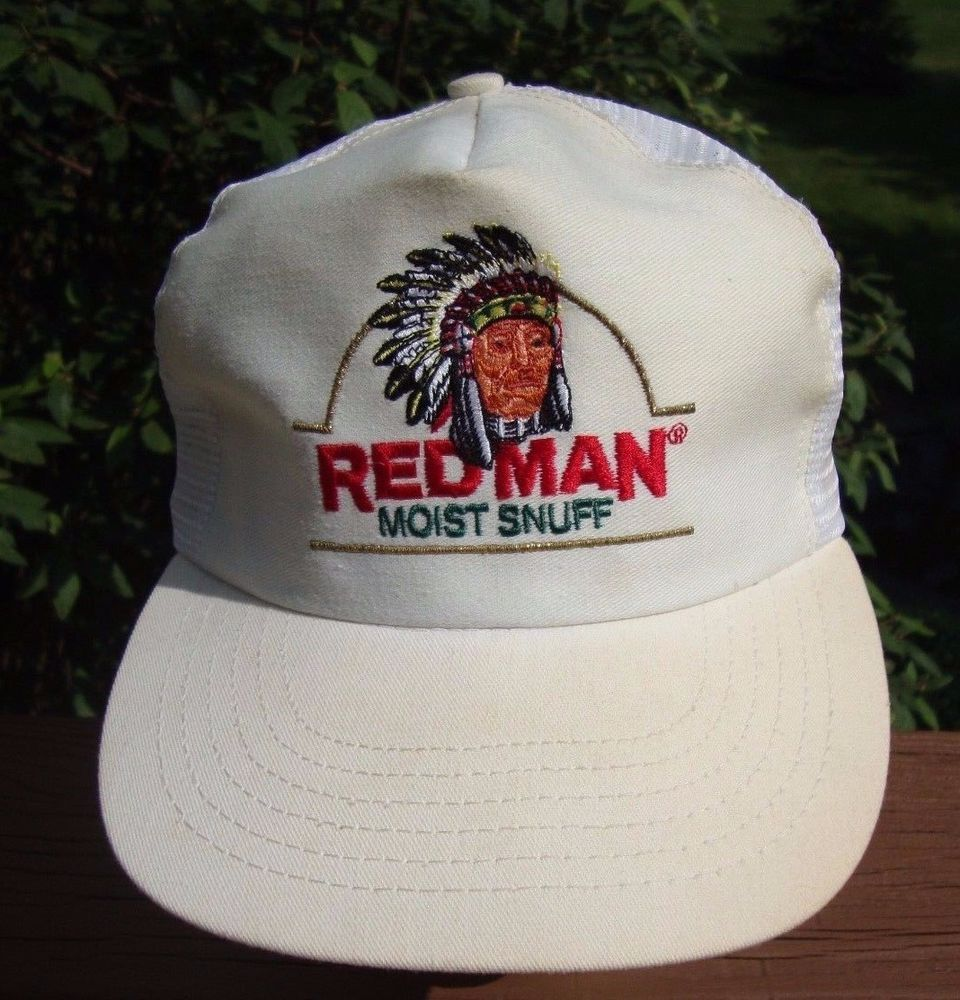 29631f68 VINTAGE RED MAN INDIAN CHEWING TOBACCO SNAPBACK HAT USA trucker CAP #redman  #Trucker