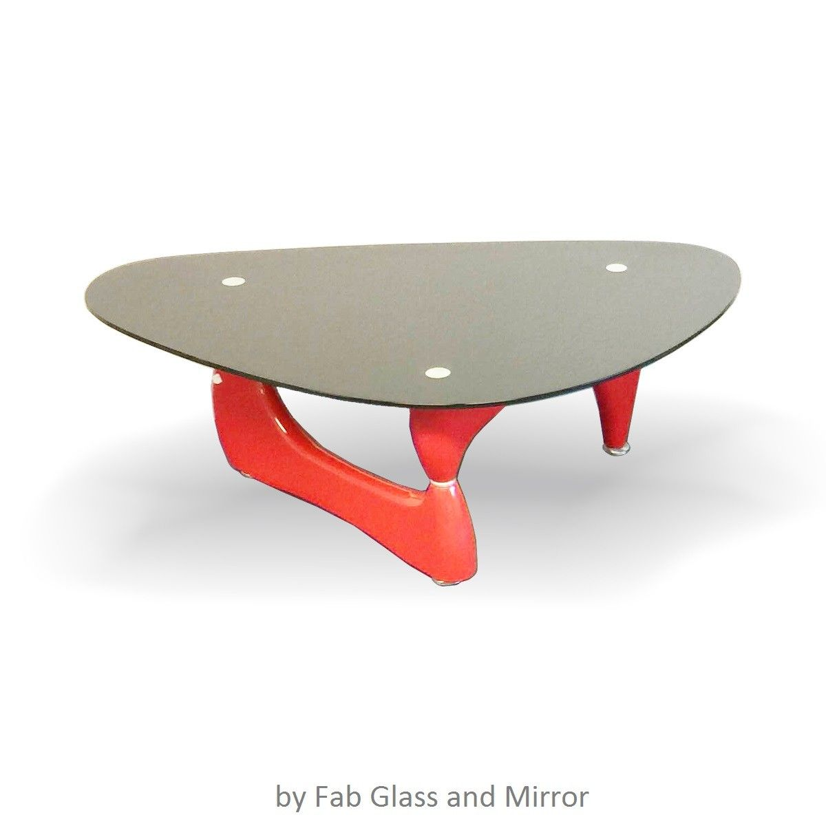 Noguchi Style Coffee Table Red Color With Black Glass Top Glass Top Coffee Table Black Glass [ 1200 x 1200 Pixel ]