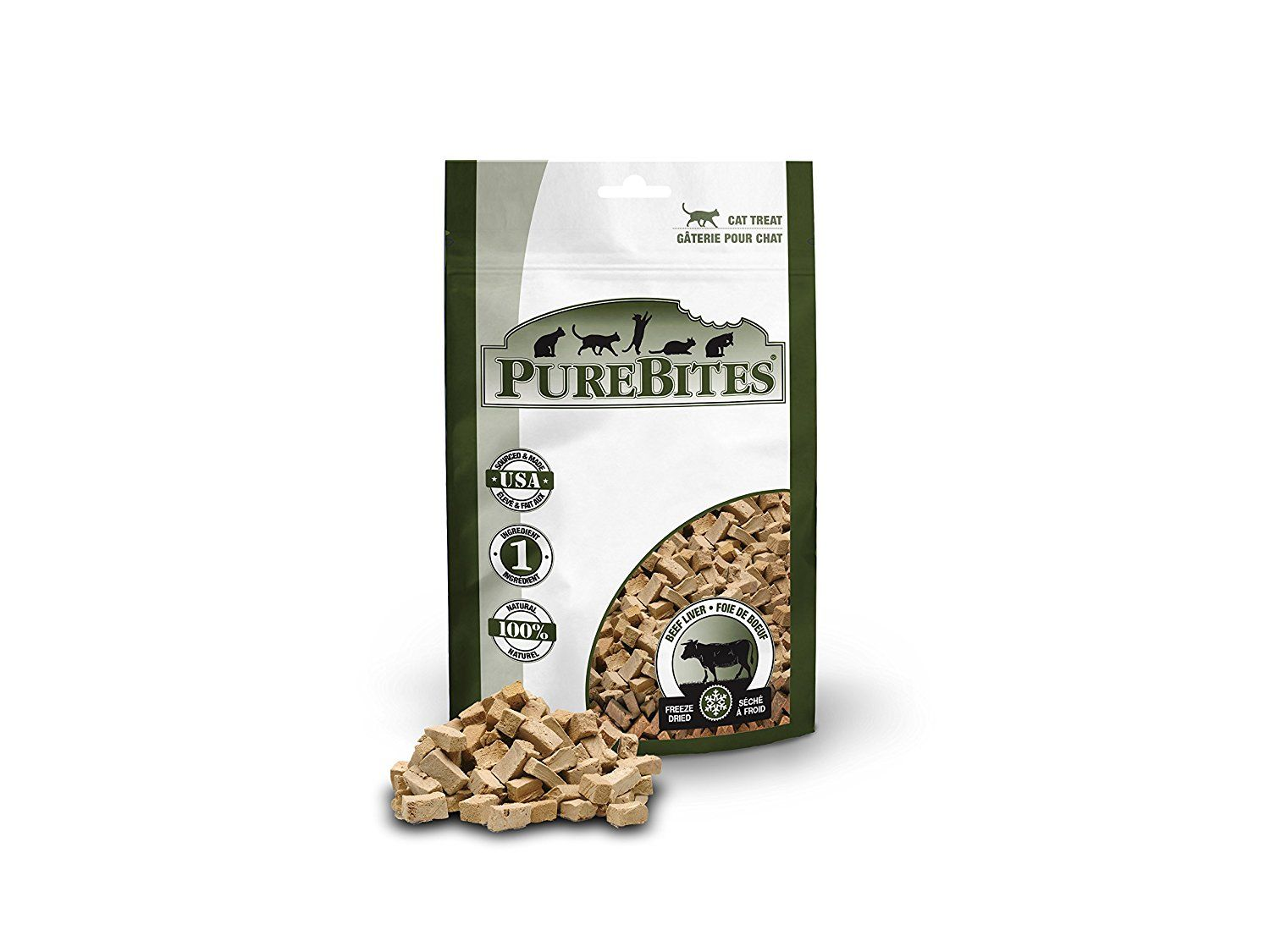 Purebites beef liver for cats 085oz 24g entry size