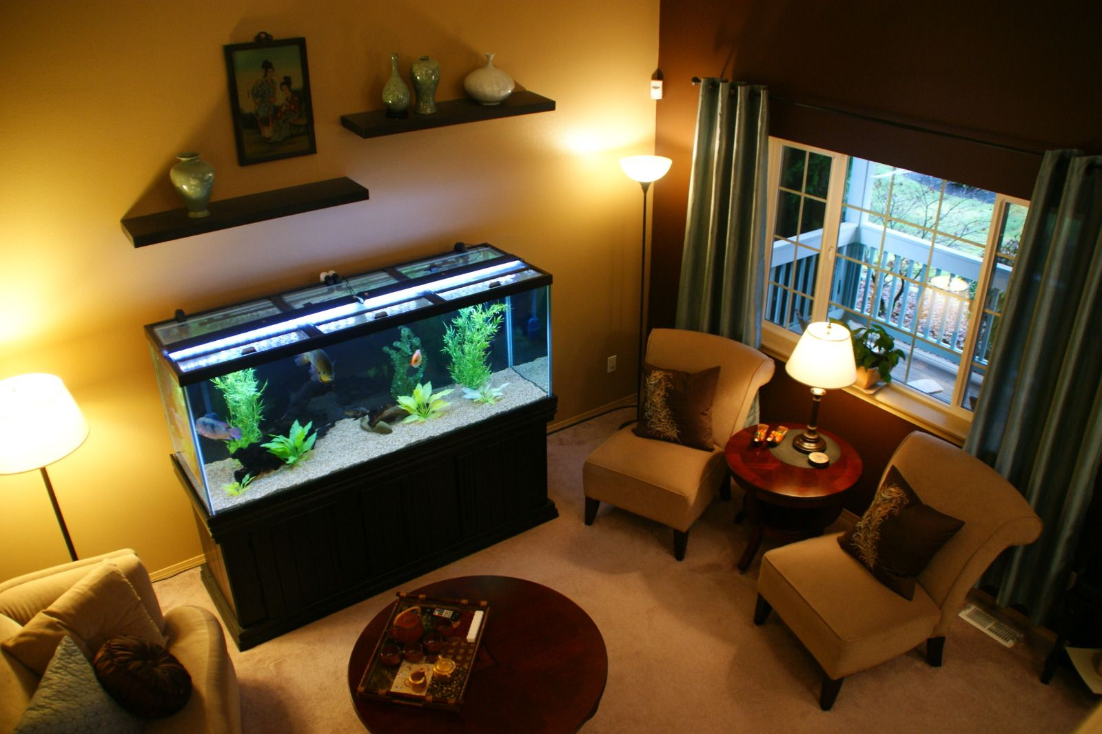 Living Room Decorating Ideas Fish Tank transform the way your home looks using a fish tank | oscar fish