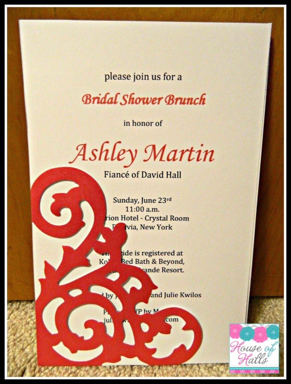 House of Halls: DIY Bridal Shower Invitations | Wedding/Bridal ...