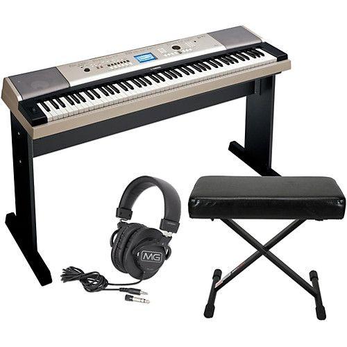 Yamaha Ypg535 88key Portable Grand Piano Keyboard With Bench And Headphones Piano Keyboard Piano Yamaha Keyboard
