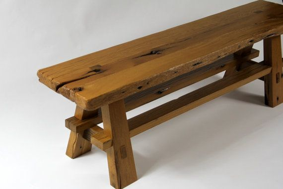 Rustic Live Edge Reclaimed Barn Wood Sitting Bench Reclaimed Barn Wood Live Edge Rustic Wood Bench Outdoor