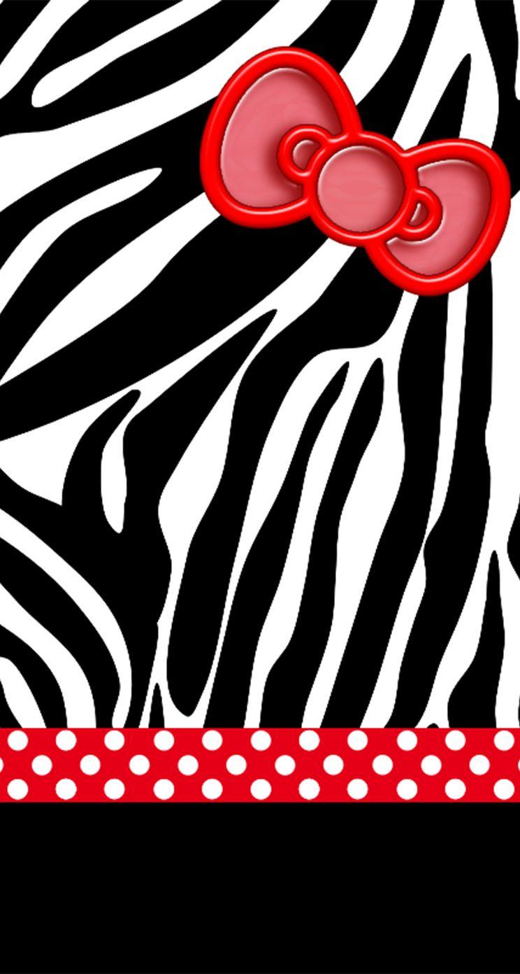 ハローキティのスマホ壁紙 ゼブラ柄 Iphone5s壁紙 待受画像ギャラリー ハローキティの写真 キティの壁紙 キティ