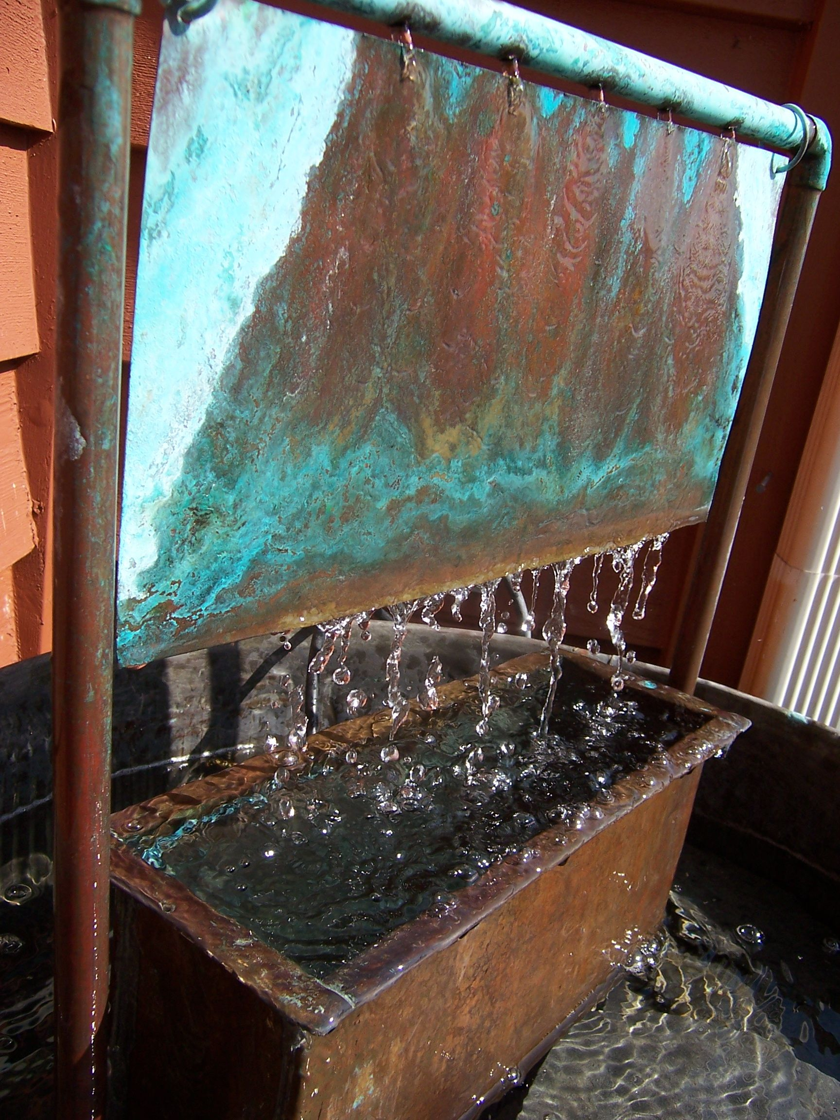 I Made This From An Old Copper Wash Tub, A Planter, Copper Sheeting, ·  Outdoor FountainsGarden FountainsWater ...