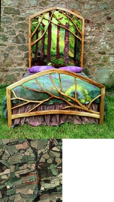 Enter The Forest Of Dreams, Handcrafted Bed.