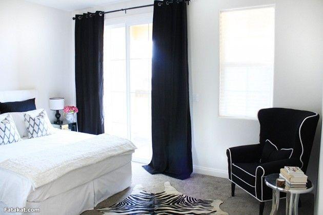 30 Stylish Interior Designs With Black Curtains Black Curtains Bedroom Inspirations White Curtains