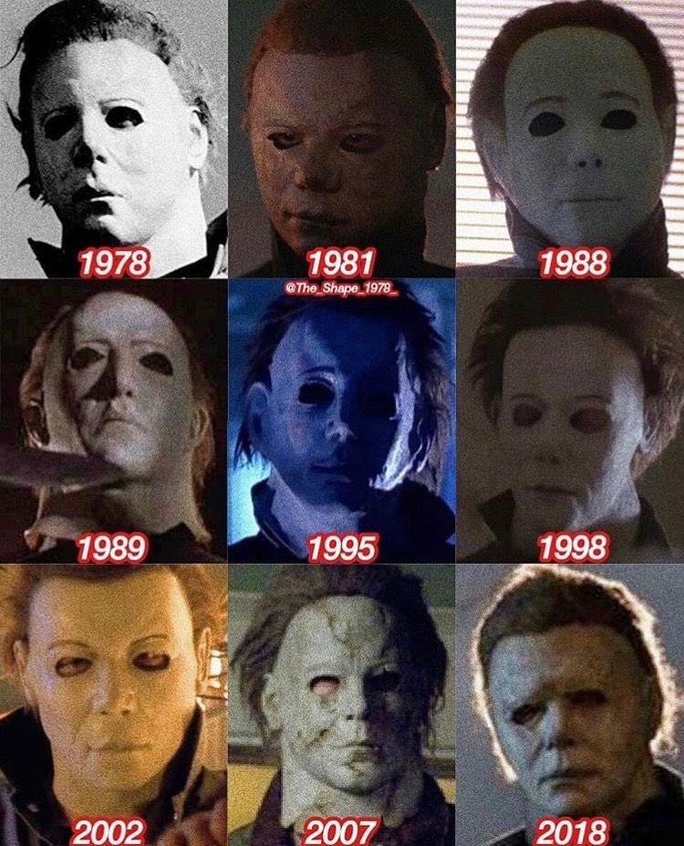 Evolution of Michael Myers' mask Michael myers mask