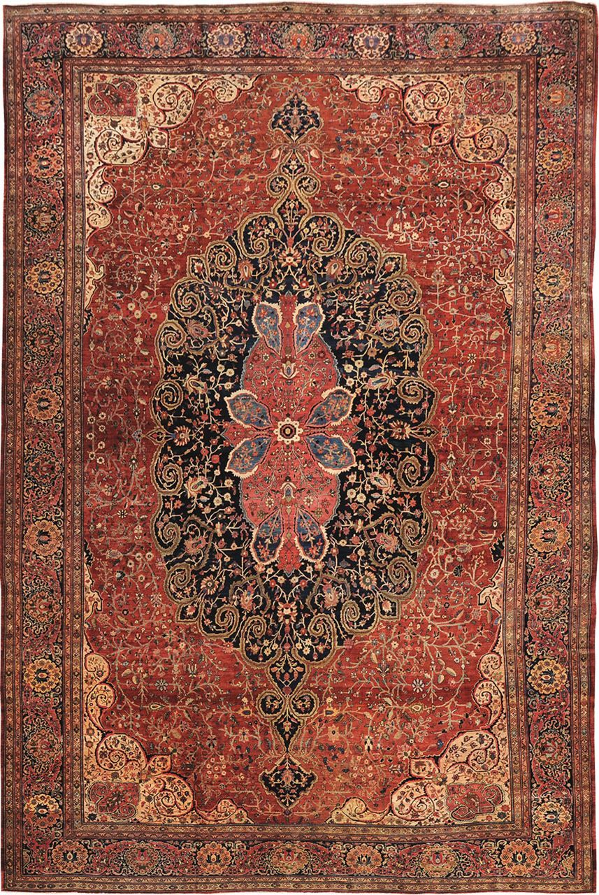 Antique Farahan Origin Persia Size 14 0 X 20 10 Rug Id 811 Rugs Rugs On Carpet Antique Persian Carpet