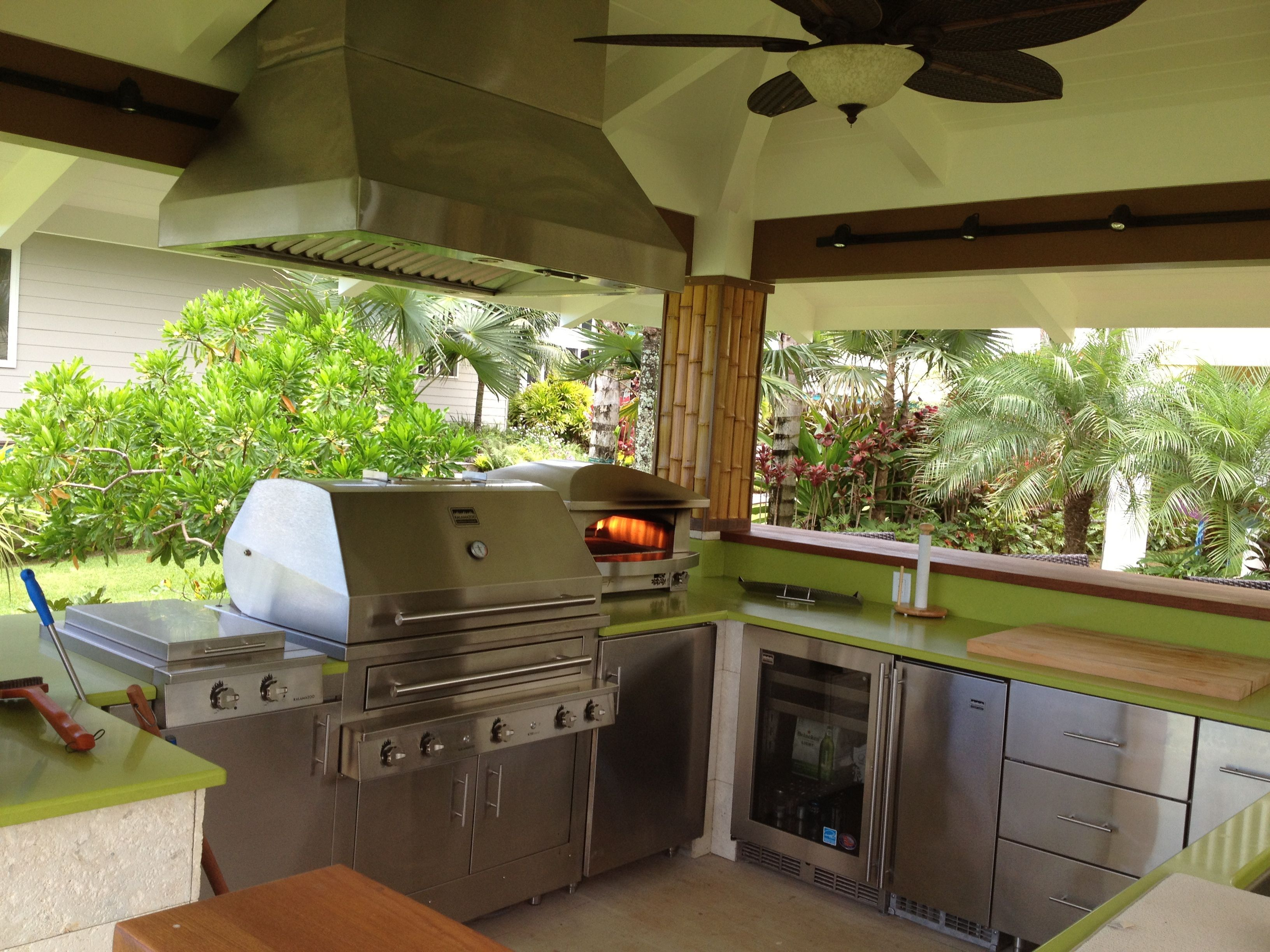 Kalamazoo Outdoor Gourmet Kitchen In Hawaii Outdoor Appliances Outdoor Kitchen