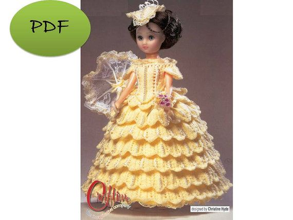 Vintage Barbie Dress Knit Digital Pattern by GavryDollsPattern, $1.30