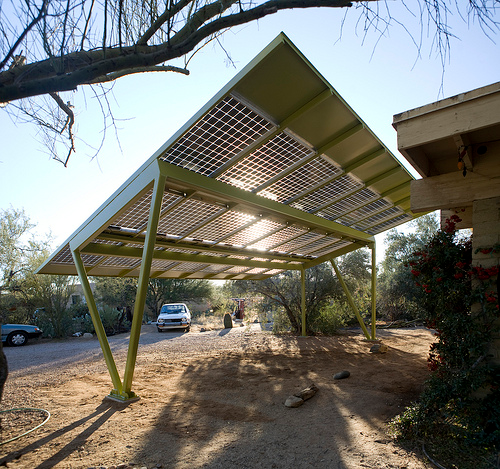 Interesting idea to make a wood carport as a source of