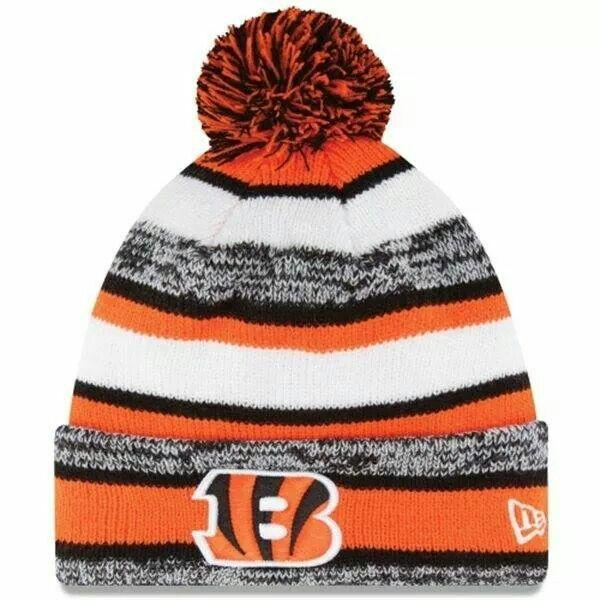 6c845c0a ... denmark mens cincinnati bengals new era on field sideline sport cuffed  knit hat 74ddf 00d0e