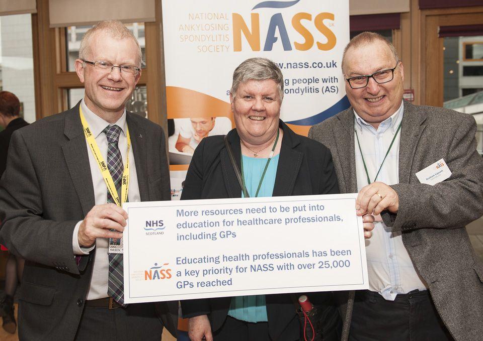 John Mason MSP with NASS member Graham Lipsett and wife