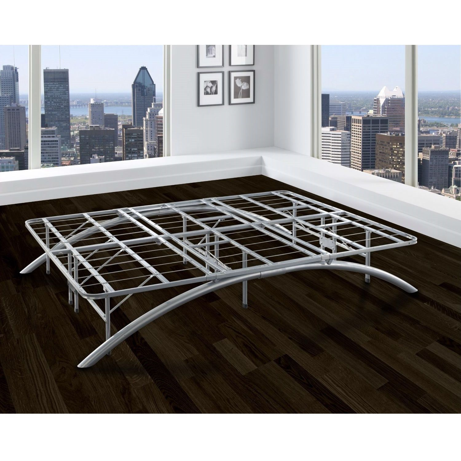 Best Queen Size Contemporary Metal Platform Bed Frame With 400 x 300
