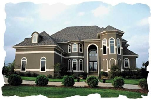 House Plan 120 1957 4 Bedroom 4139 Sq Ft European French Home Tpc Stucco House Colors Exterior House Colors Stucco Homes