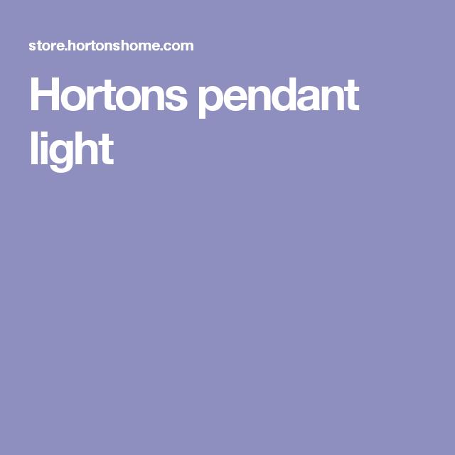 Hortons pendant light