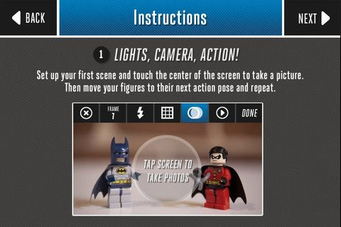 Lego Super Hero Movie Maker iPhone App Make stop motion movies with ...