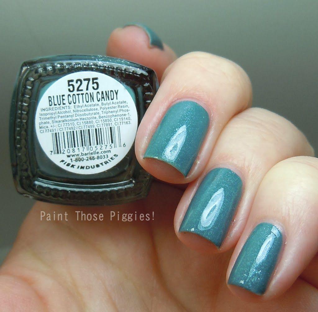 Cotton Candy Satin Fingernail Polish: Paint Those Piggies!: Barielle Review: Mint Ice Cream Cone