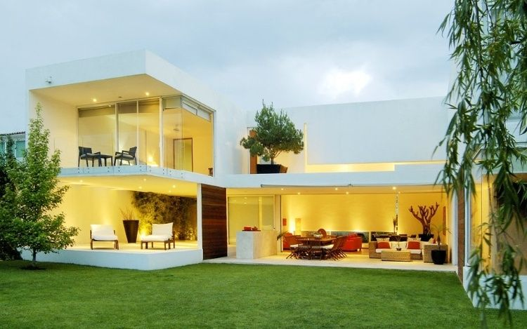 Interesting Modern Open House Design By Anonimous Led Located In Queretaro Mexico