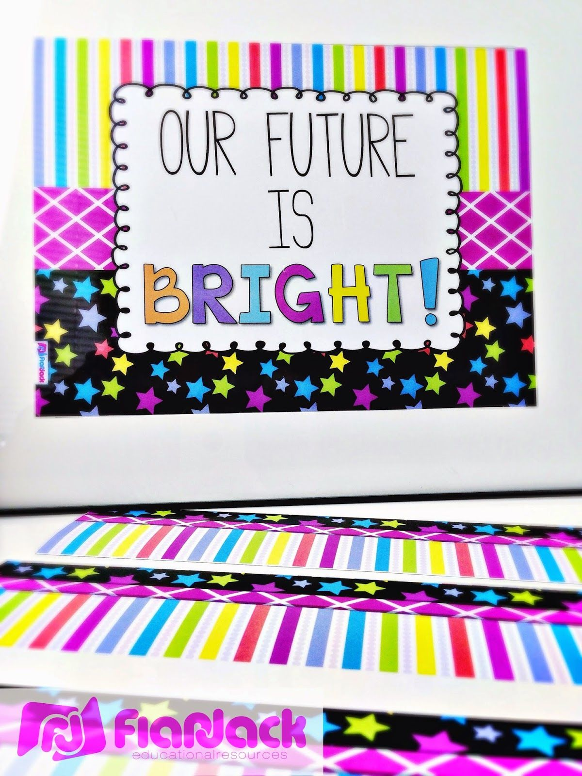 Classroom Banner Ideas : Neon classroom decor theme ideas materials decorations