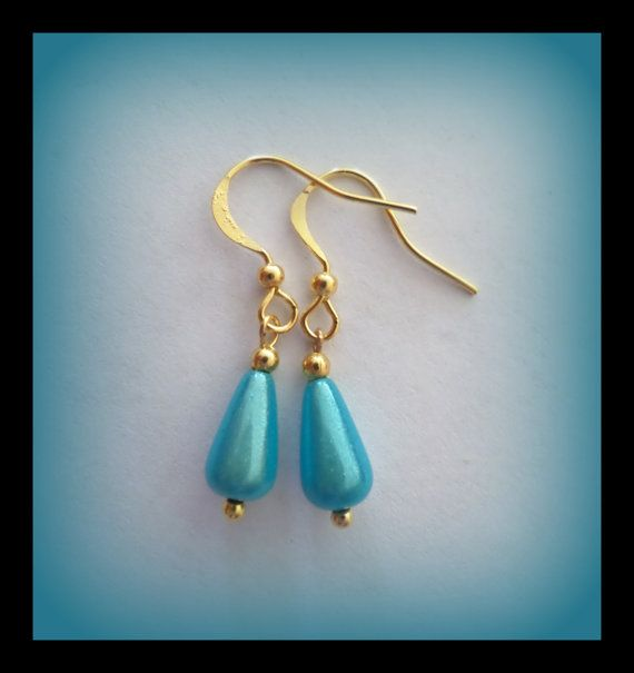 special turquoise earrings  turquoise by Linskeslovelythings, €3.00