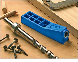 I want this...Kreg Jig Mini tool for drilling Pocket screw holes - used to make shelves, etc