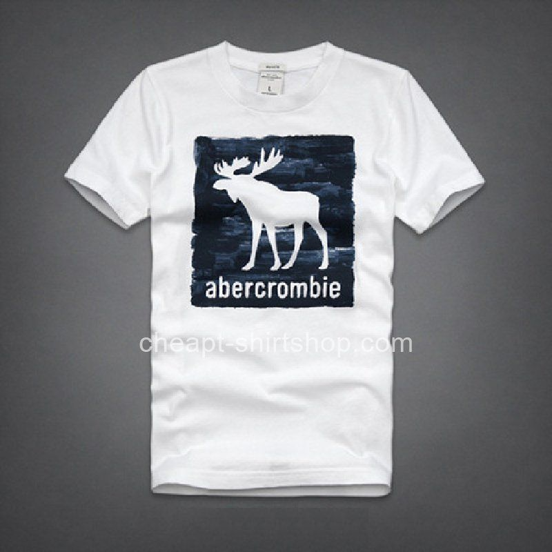 Abercrombie & Fitch White Mens Short Sleeve A&F T-shirts Online ...