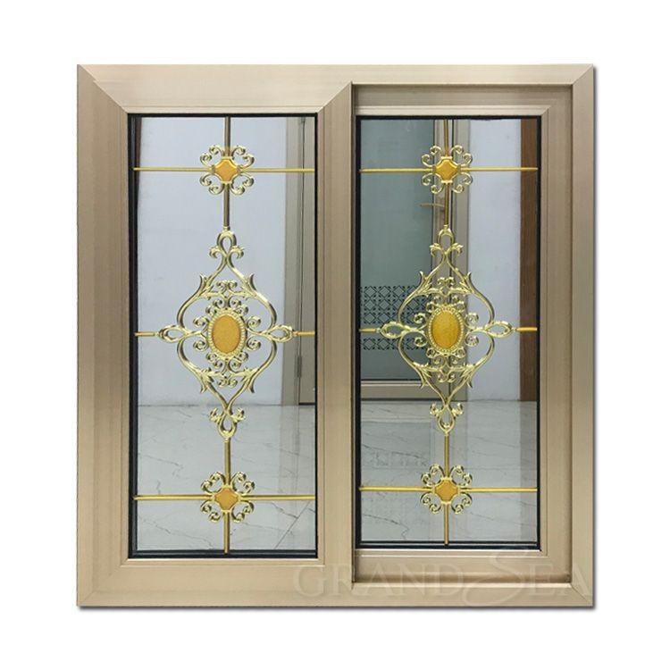Double toughened aluminum sliding window tinted glass