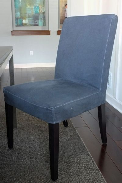 DIY Dyed Slipcovers. Dining Chair ...