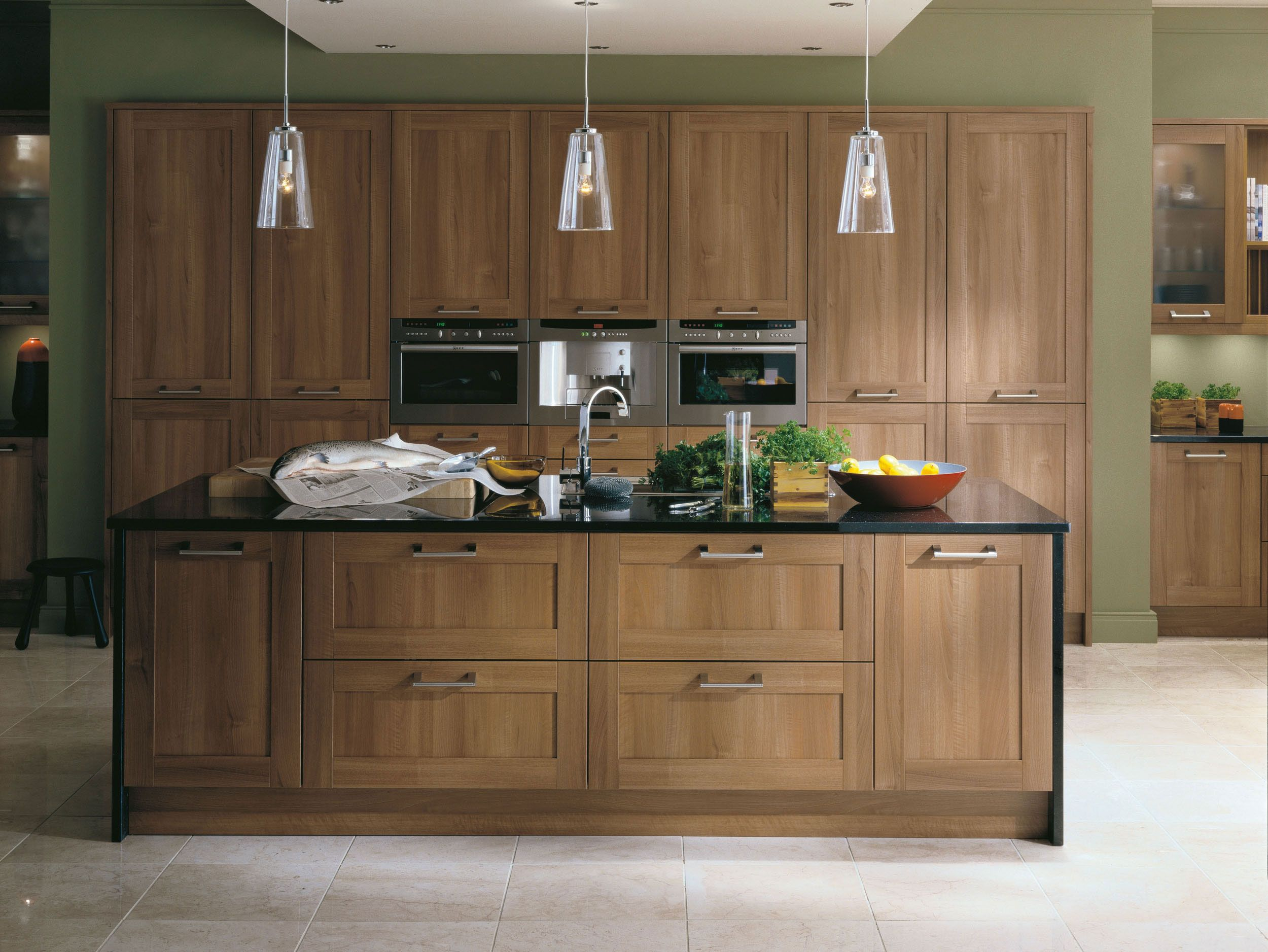 Image of Walnut Kitchen Cabinet Ideas