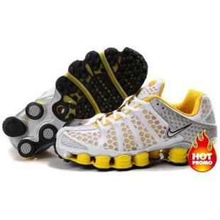 Discover the Men's Nike Shox TL Shoes White/Yellow/Silver Top Deals  collection at Pumacreppers. Shop Men's Nike Shox TL Shoes White/Yellow/Silver  Top Deals ...