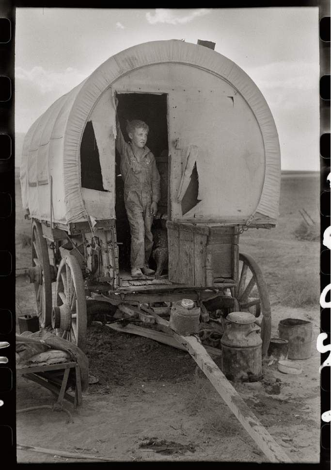 Snowville, Utah  Camp of a dry farmer in Oneida County