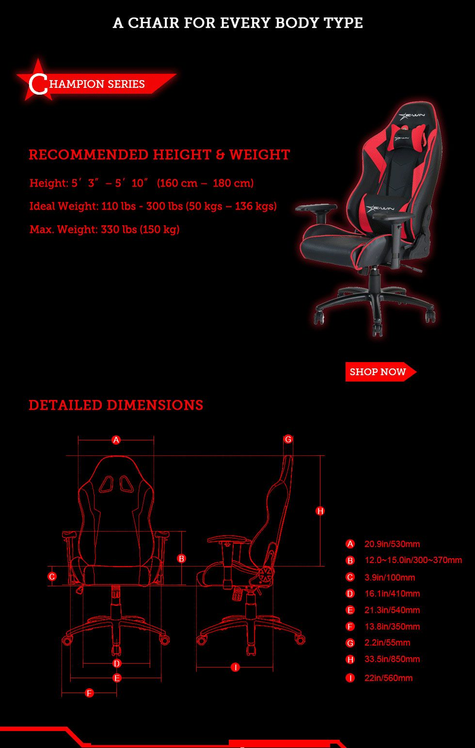 Vouwstoel 150 Kg.Find The Perfect Gaming Chair To Fit Your Body Size And Weight