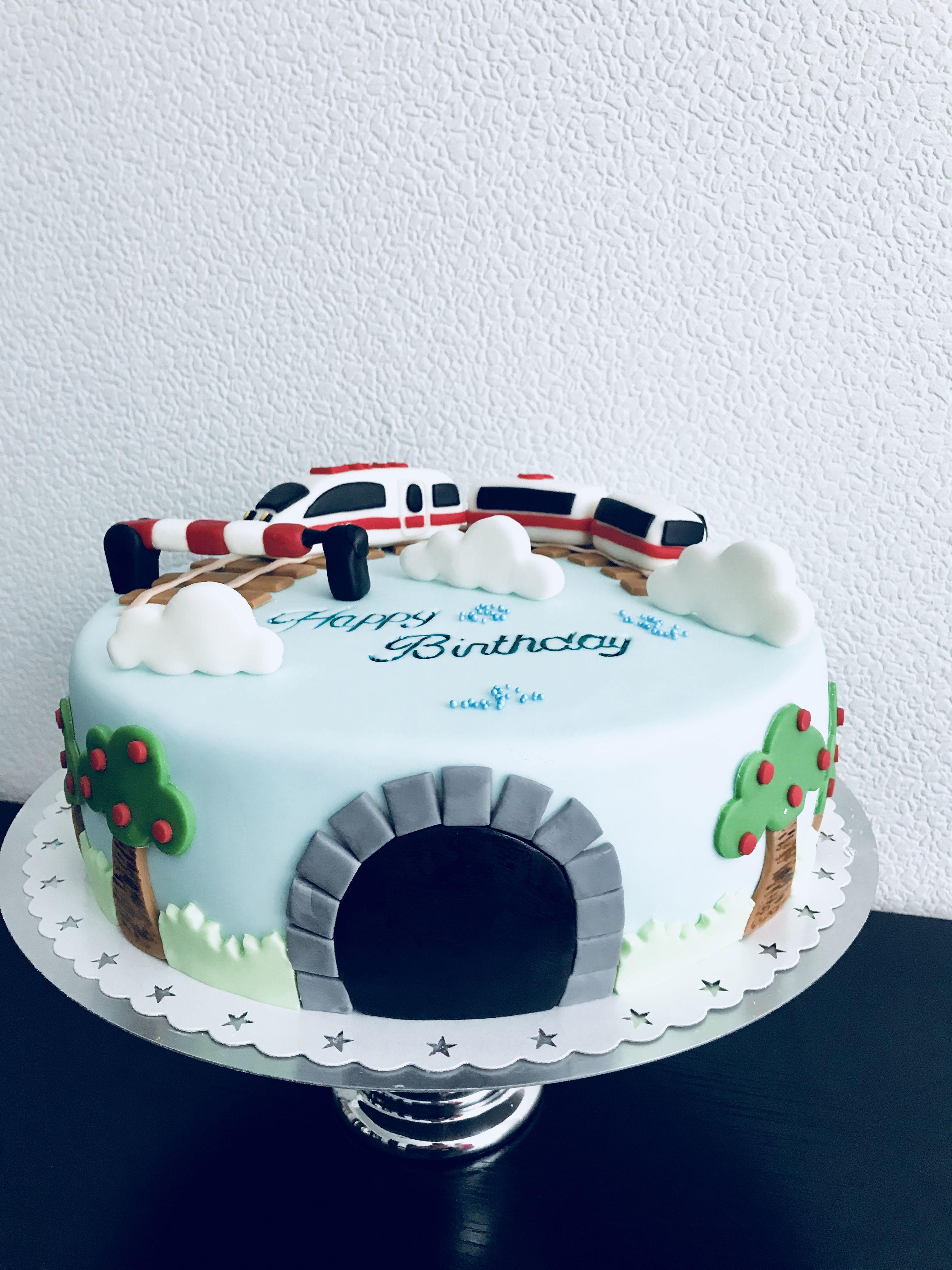 Zug Torte Ice Zug Kuchen Kuchen Mit Fondant Kuchen