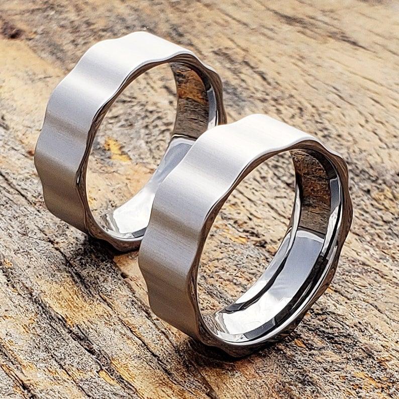 Matte Mens Wedding Band, Mens Tungsten Ring, Tungsten