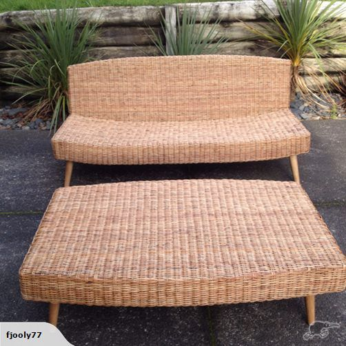 Beautiful Citta rattan sofa and table - Great for terrace $ 800 | Trade Me