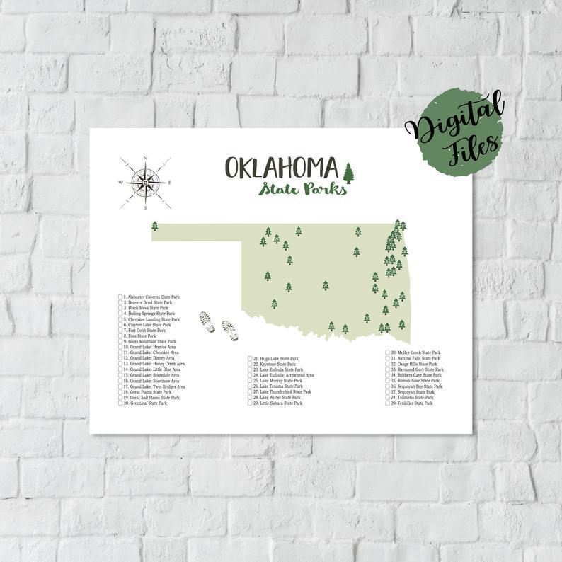 state parks in oklahoma map Printable Oklahoma State Parks Map State Parks Of Oklahoma Map